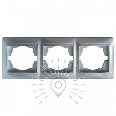 Рамка 3-а LEMANSO Сакура срібло горизонтальна LMR1312 Lemanso - 1