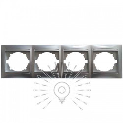Рамка 4-я LEMANSO Сакура серебро горизонтальная LMR1313 Lemanso - 1