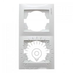 Рамка 2-я LEMANSO Сакура белая вертикальная LMR1032 Lemanso - 1