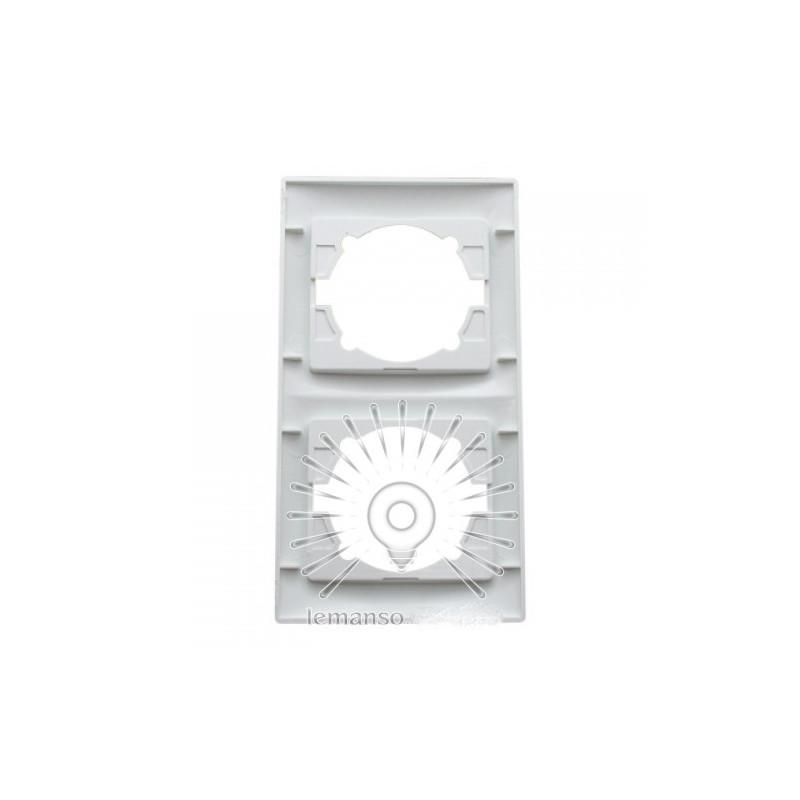 Рамка 2-я LEMANSO Сакура біла вертикальна LMR1032 Lemanso - 3