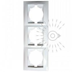 Рамка 3-я LEMANSO Сакура белая вертикальная LMR1033 Lemanso - 1