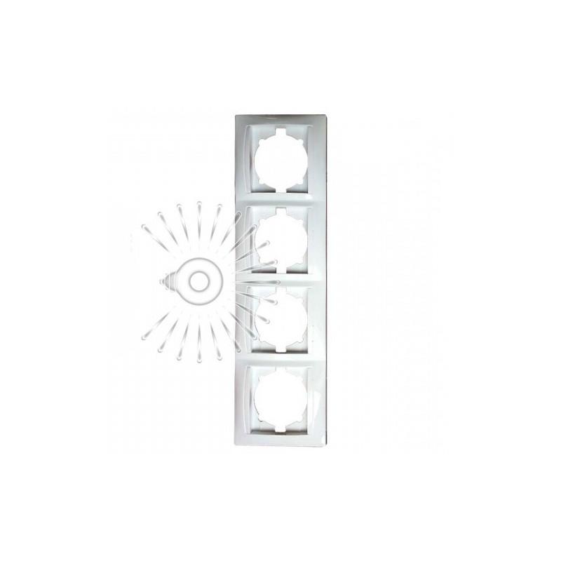 Рамка 4-я LEMANSO Сакура белая вертикальная LMR1034 Lemanso - 1