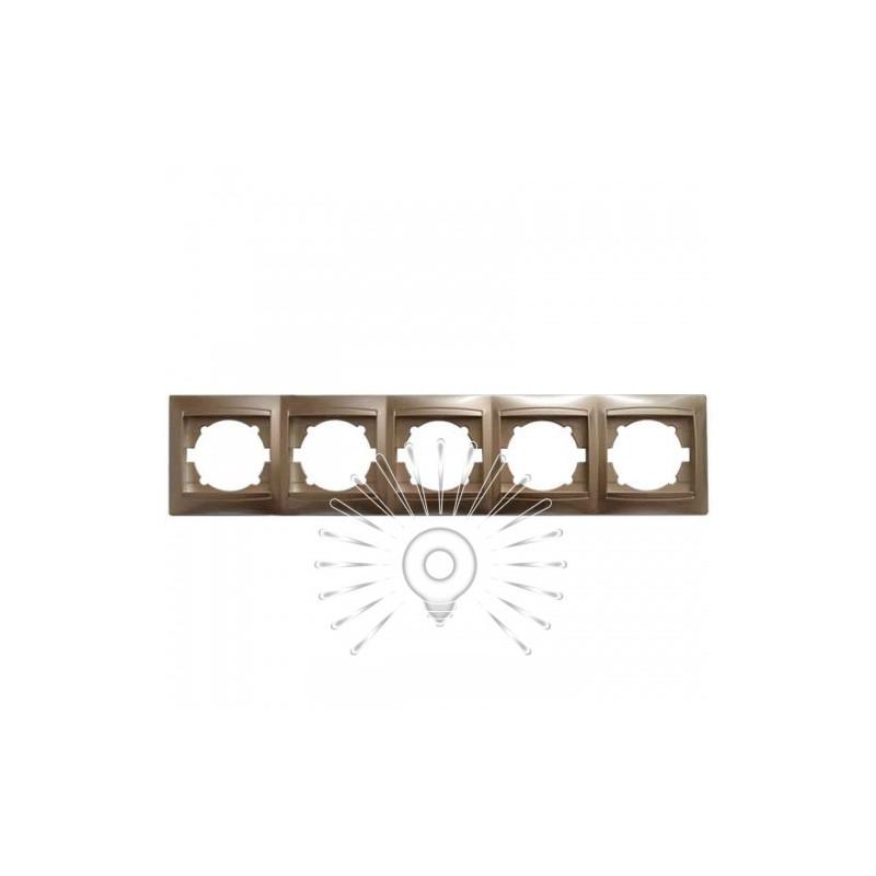 Рамка 5-я LEMANSO Сакура золото горизонтальная LMR1230 Lemanso - 1