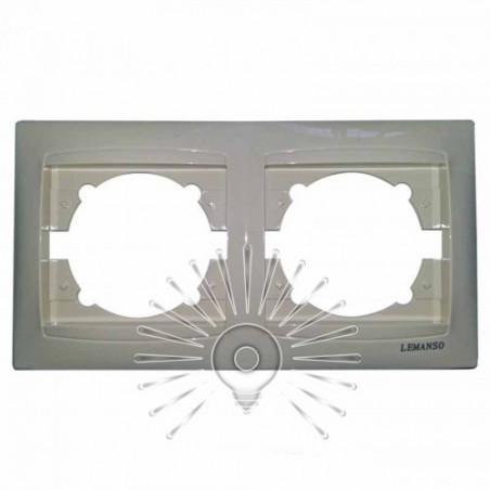 Рамка 2-я LEMANSO Сакура крем горизонтальная LMR1111 Lemanso - 1