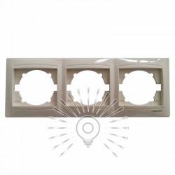 Рамка 3-я LEMANSO Сакура крем горизонтальная LMR1112 Lemanso - 1