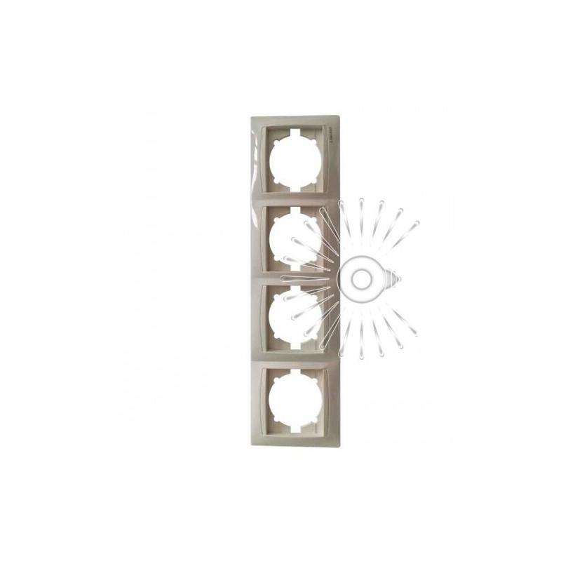 Рамка 4-а LEMANSO Сакура крем вертикальна LMR1134 Lemanso - 1