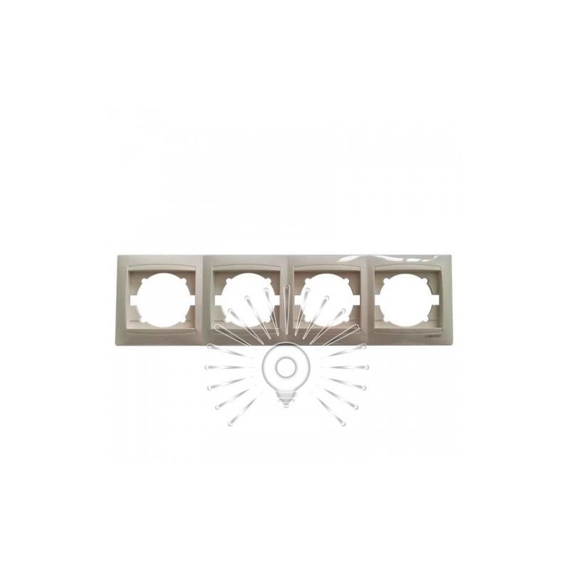 Рамка 4-я LEMANSO Сакура крем горизонтальная LMR1113 Lemanso - 1