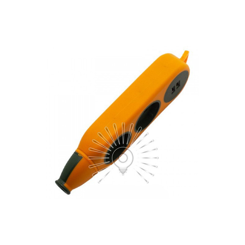 "Колодка ""Апельсин"" 2 гнізда 10A / 250V, 2USB 2.1A, б / з Lemanso / LMK75004 Макс.2500Вт Lemanso - 2"
