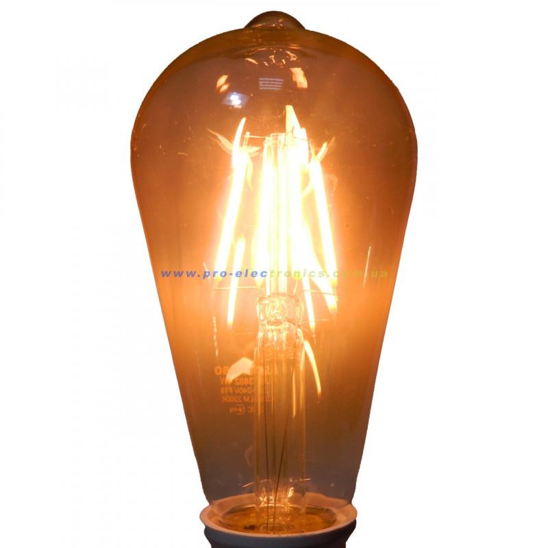 Лампа Едісона Lemanso світлодіодна 4W ST64 E27 320LM 2200K 220-240V, золота / LM3802 Lemanso - 4