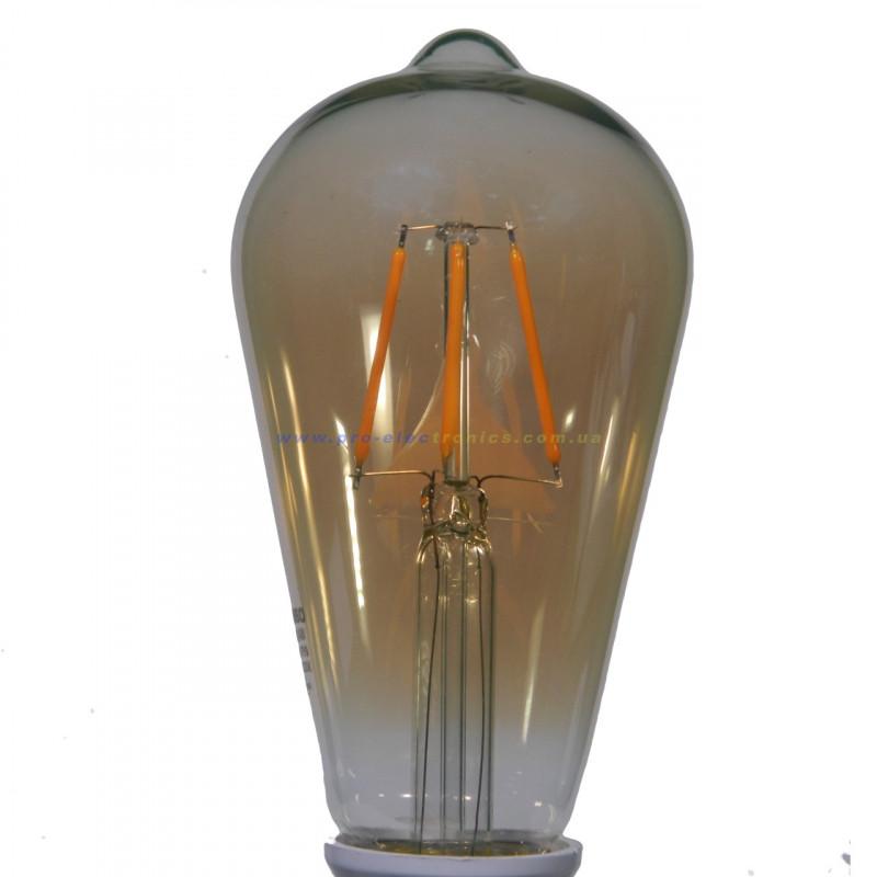 Лампа Едісона Lemanso світлодіодна 4W ST64 E27 320LM 2200K 220-240V, золота / LM3802 Lemanso - 3