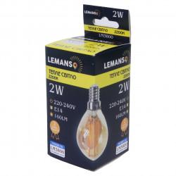 Лампа Эдисона Lemanso светодиодная 2W G45 E14 160LM 2200K 220-240V, золотая / LM3800 Lemanso - 1