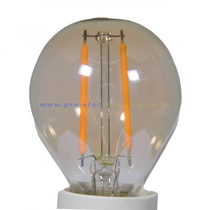 Лампа Едісона Lemanso світлодіодна 2W G45 E14 160LM 2200K 220-240V, золота / LM3800 Lemanso - 3