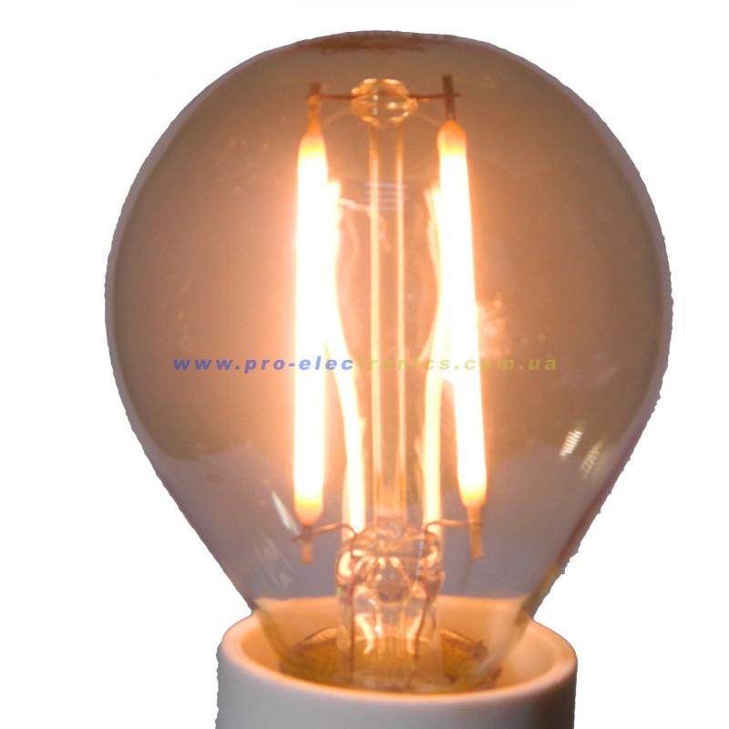Лампа Едісона Lemanso світлодіодна 2W G45 E14 160LM 2200K 220-240V, золота / LM3800 Lemanso - 4