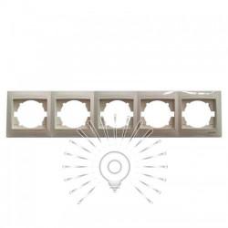 Рамка 5-я LEMANSO Сакура крем горизонтальная LMR1131 Lemanso - 1