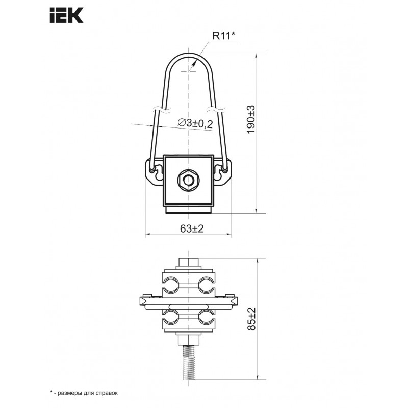 Затиск анкерний ЗАБ 4х16-35 (SO 158) IEK IEK - 2