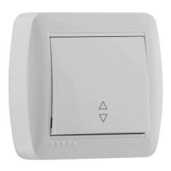 Выключатель проходной накладной Lezard 711-0200-105 Demet Белый Lezard - 1