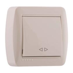 Выключатель проходной накладной Lezard 711-0300-105 Demet Крем Lezard - 1