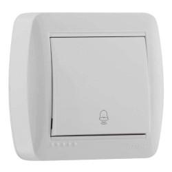 Кнопка звонка Lezard 711-0200-103 Demet Белый Lezard - 1