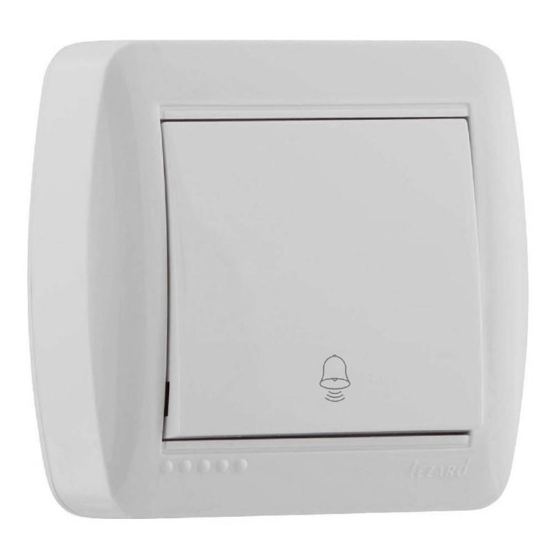 Кнопка дзвінка Lezard 711-0200-103 Demet Білий Lezard - 1