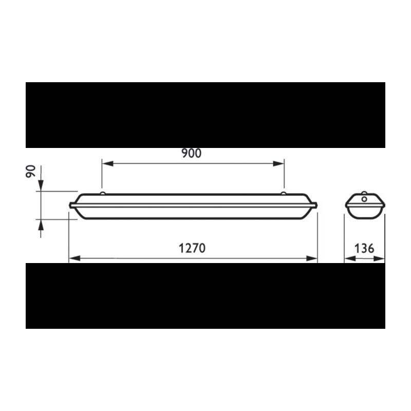 Світильник промисловий PHILIPS TCW060 C 2xTL-D36W HF 220V Philips - 4