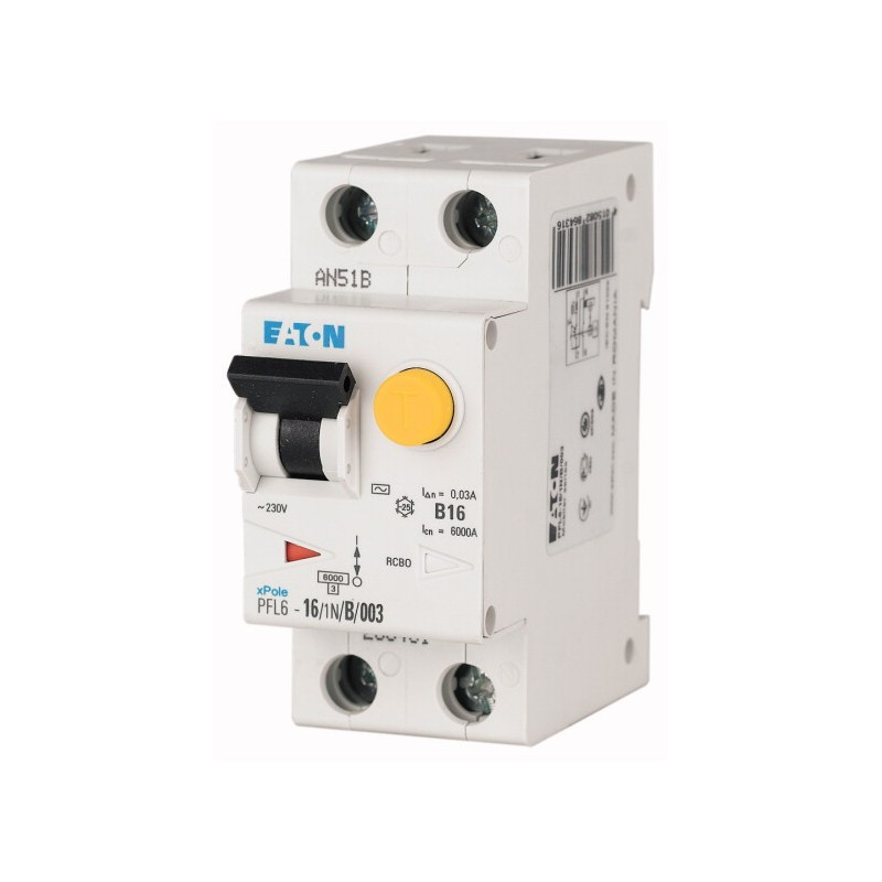 Диференціальний автоматичний вимикач PFL6-20/1N/C/003 EATON - 1
