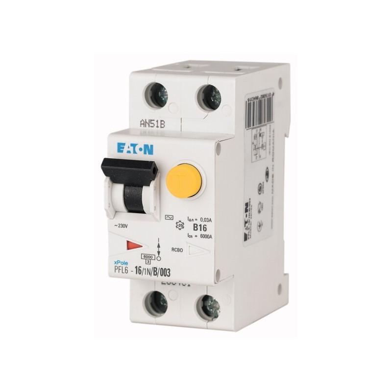 Дифференциальный автоматический выключатель EATON PFL6-20/1N/C/003 EATON - 1