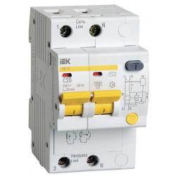 Дифференциальный автомат IEK АД12 2Р 20А 30мА IEK - 1