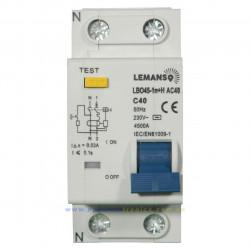 Диференціальний автомат Lemanso 4.5KA 1п+н 25A 30mA RCBO LBO45 Lemanso - 1
