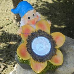 Світильник LED газон Lemanso з вимикачем, 1LED білий IP44  / CAB125 гном з квіткою Lemanso - 1