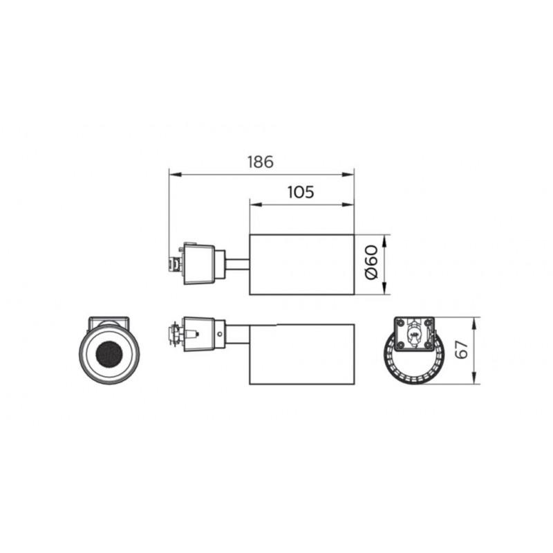 Трековый светильник Philips ST031T LED20/840 21W 220-240V I WB GM Philips - 3