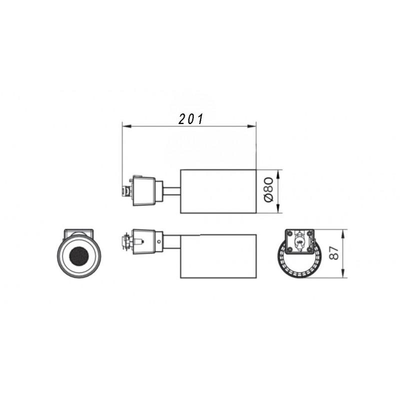 Трековий світильник Philips St031T Led30/840 33W 220-240V I Wb Gm Philips - 3