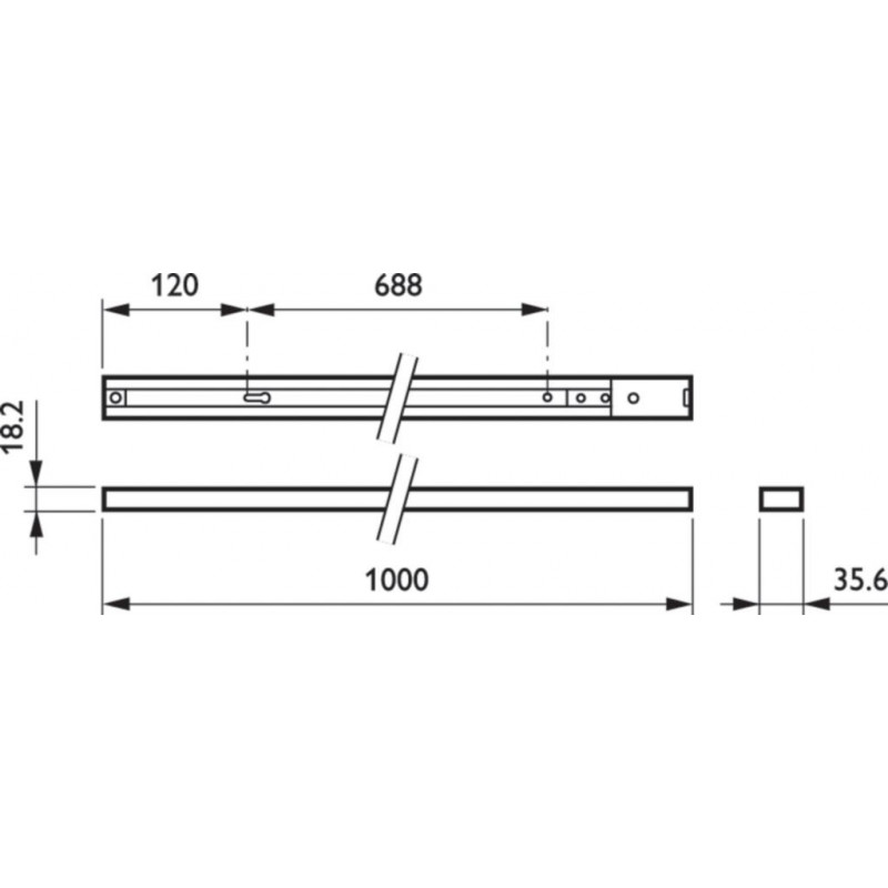Шинопровод PHILIPS однофазный RCS170 1C L1000. Длина 1 метр. Philips - 5