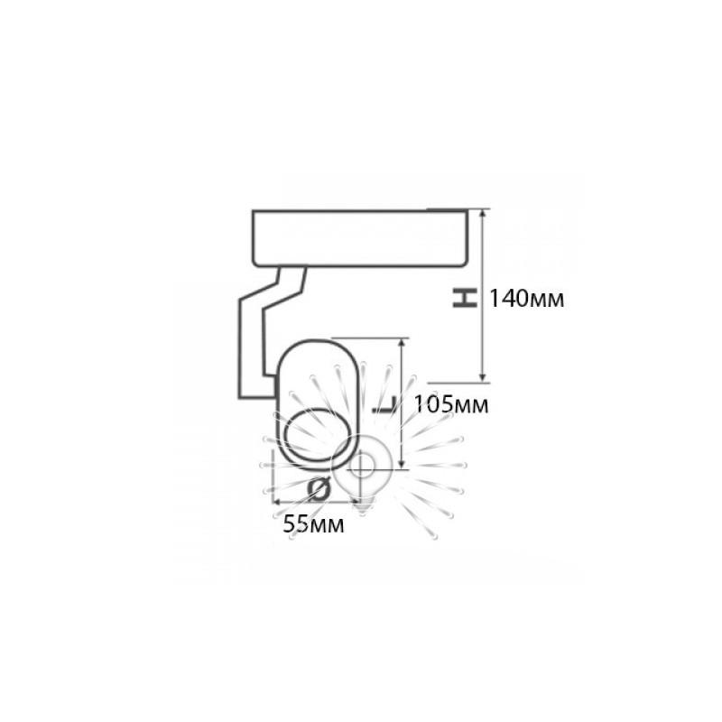 Трековий світильник LED Lemanso 10W 800LM 6500K білий / LM507-10 Lemanso - 2