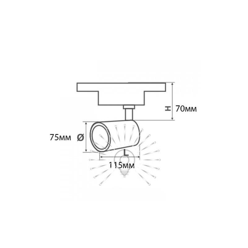 Трековий світильник LED Lemanso 20W 1800LM 6500K 185-265V білий / LM3214-20 Lemanso - 4
