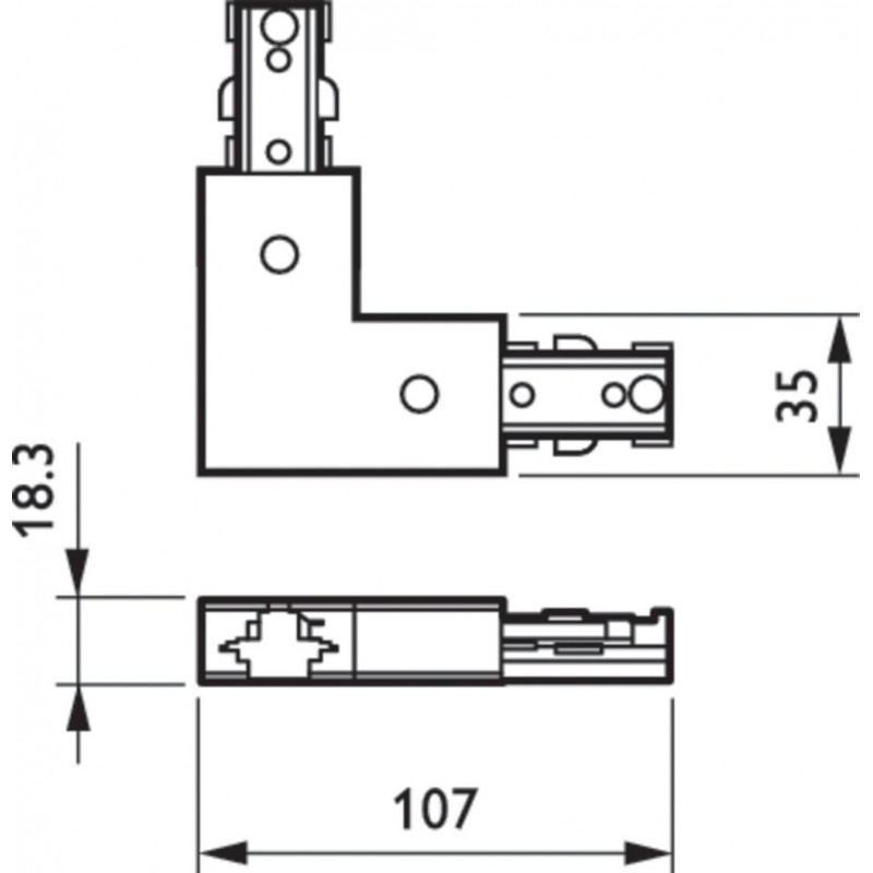 Кутовий конектор Philips ZCS180 1C LCP Philips - 4
