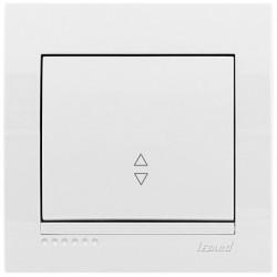 Вимикач прохідний Lezard Deriy 702-0202-105 білий Lezard - 1