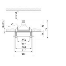 Світильник точковий BRILUX DL- 6S Brilux - 2