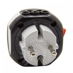 Перехідник - адаптер Lemanso з кнопкою білий+сірий/ LMA7304 Lemanso - 1