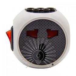 Перехідник - адаптер Lemanso з кнопкою білий+сірий/ LMA7304 Lemanso - 3