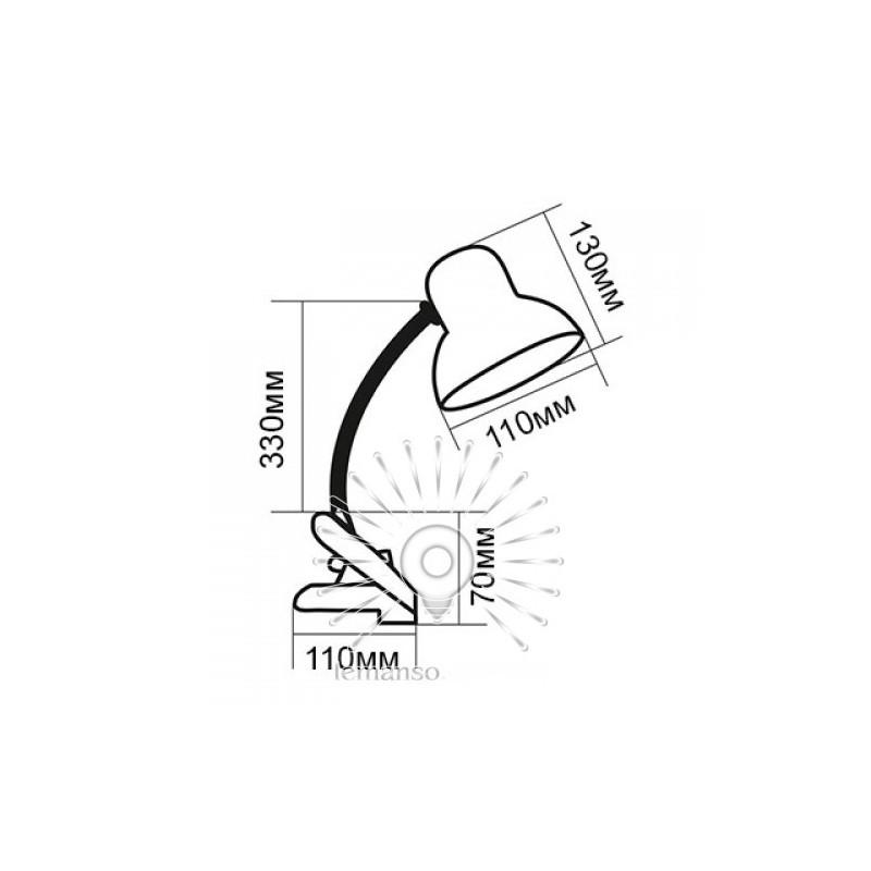 Настільна лампа  Lemanso 60W E27 LMN097. З прищіпкою Lemanso - 5