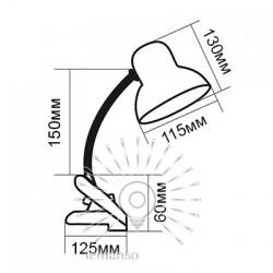 Настільна лампа  Lemanso 60W E27 LMN095. З прищіпкою Lemanso - 8