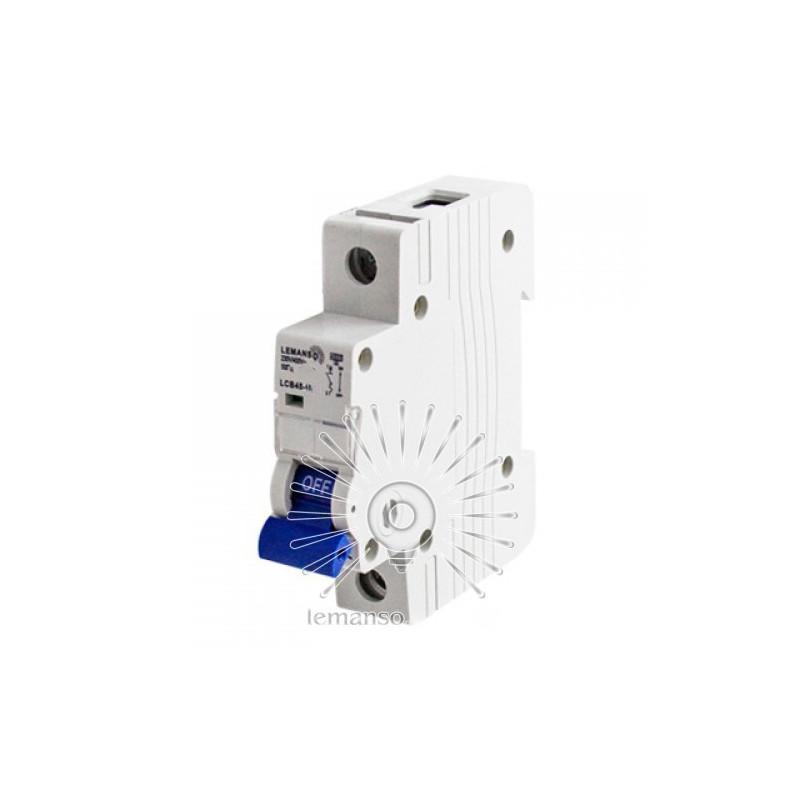 Автоматичний вимикач Lemanso 4.5KA (тип С) 1п 16A LCB45 Lemanso - 2