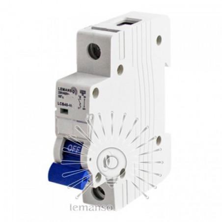 Автоматичний вимикач Lemanso 4.5KA (тип С) 1п 63A LCB45 Lemanso - 1