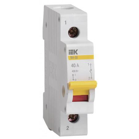 Вимикач навантаження (міні-рубильник) ВН-32 1Р 40А ІЕК IEK - 1