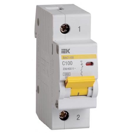 Автоматичний вимикач ВА47-100 1Р 100А 10кА С IEK IEK - 1