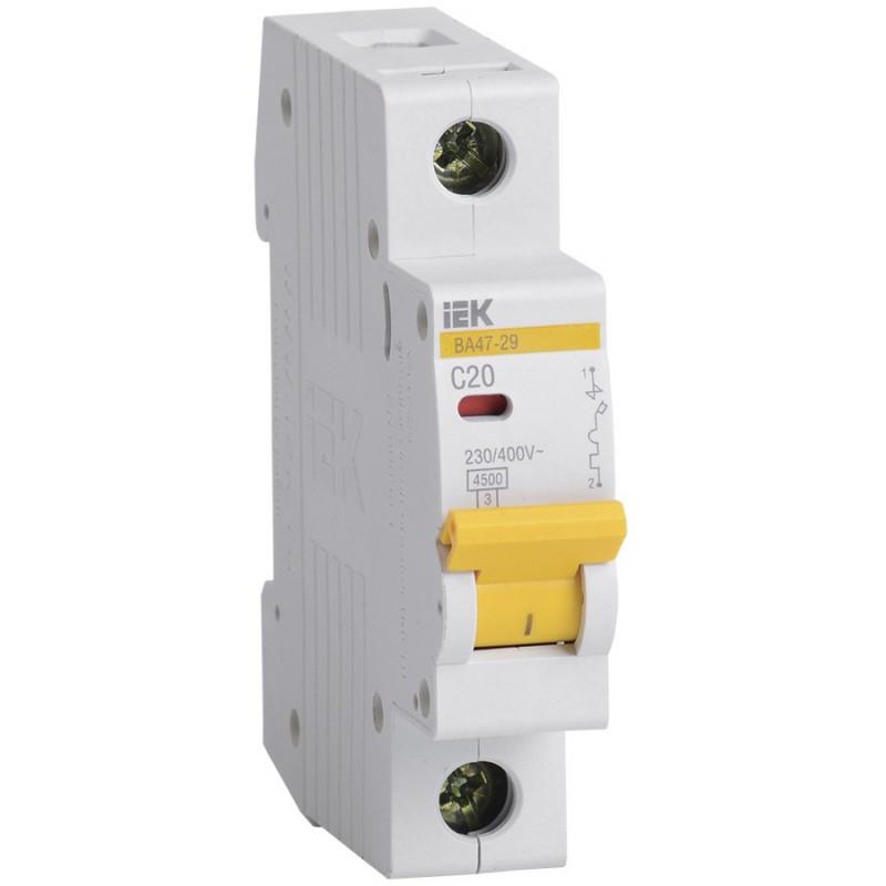 Автоматичний вимикач ВА47-29 1Р 20А 4,5кА С IEK IEK - 1