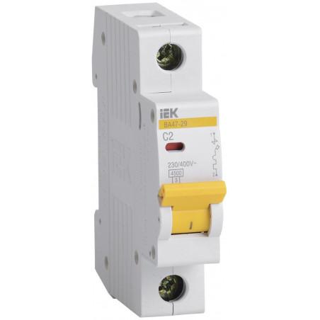 Автоматичний вимикач ВА47-29 1Р 2А 4,5кА С IEK IEK - 1