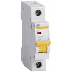 Автоматический выключатель ВА47-29 1Р 4А 4,5кА С IEK IEK - 1