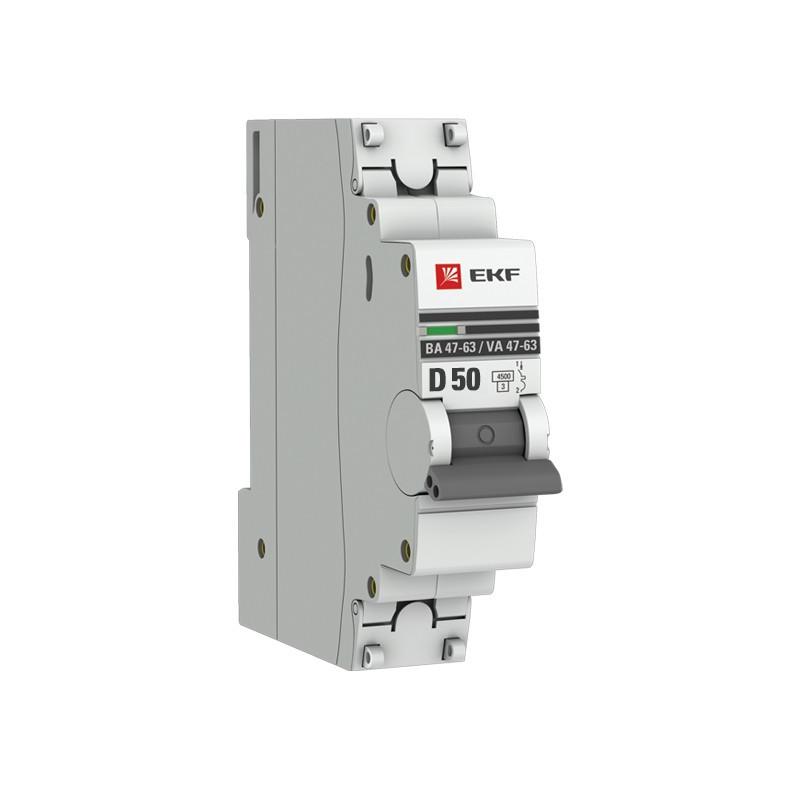 Автоматичний вимикач EKF ВА 47-63 50А С EKF - 2