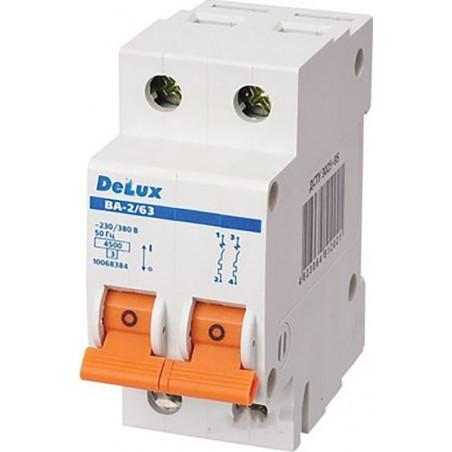Автоматичний вимикач DELUX ВА-2/63 С6 DELUX - 1